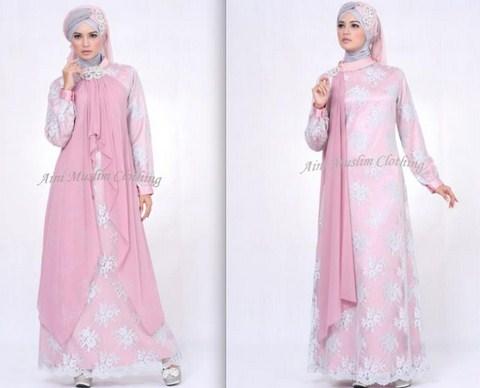 Model Baju Gamis Muslim Pesta Terbaru 2018 15 - Gaun Gamis Baju BUsana Muslimah Terbaru Koleksi