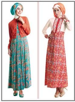 15 Model Baju Gamis Muslim Pesta Terbaru 2015