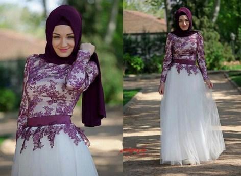 Model Baju Gamis Muslim Pesta Terbaru 2018 5 - Baju Gaun Brokat Pesta Cantik