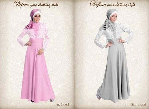 Model Baju Gamis Muslim Pesta Terbaru 2018 6 - Baju Anggun Gaun Muslimah Paling Baru