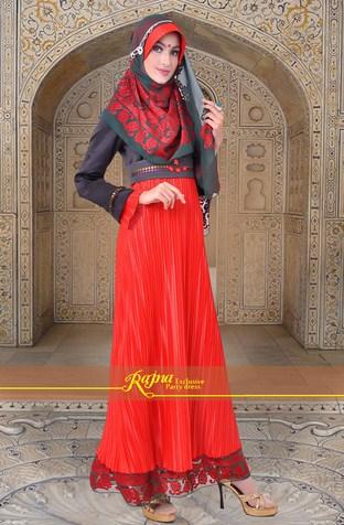 Model Baju Gamis Muslim Pesta Terbaru 2018 7 - Gamis Panjang Populer MAsa Sekarang