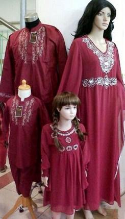 Model Baju Keluarga Muslim Couple Terbaru 10 - Seragam Keluarga dan Abaya Terbaru