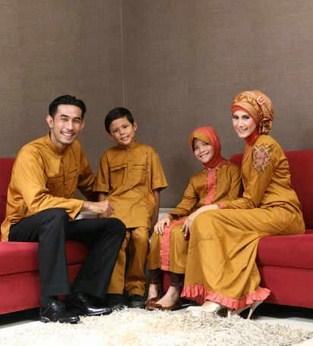 Model Baju Keluarga Muslim Couple Terbaru 2 - Untuk ke Pesta Terbaik