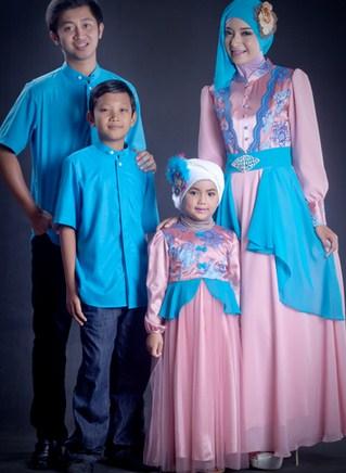 Model Baju Keluarga Muslim Couple Terbaru 3 - Brokat Muslim keluarga untuk ke pesta masa kini