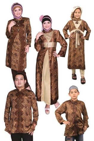 Model Baju Keluarga Muslim Couple Terbaru 4 - Batik Muslim Paling Populer