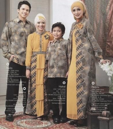 Model Baju Keluarga Muslim Couple Terbaru 7 - Baju Muslim Batik kombinasi Batik