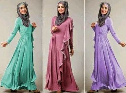 Model Desain Baju Hamil Muslim Buat Lebaran 9 - Ibu Hamil Muda yang Modis