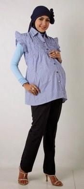 Trend Model Busana Baju Hamil Muslim Paling Baru 3 - Baju Atasan Ibu Muslim Hamil