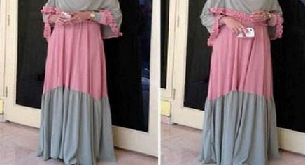 Trend Model Busana Baju Hamil Muslim Paling Baru 7 - Tetap Syar'i saat Hamil