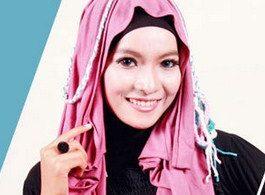 Tutorial Model Hijab Cantik 1 Menit untuk Lebaran