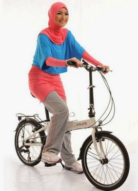 Gambar Baju Senam Muslim 2015 Terbaru 2 - baju senam outdoor muslimah