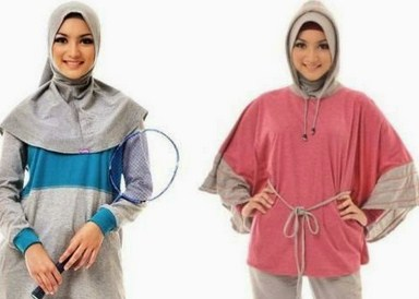 Gambar Baju Senam Muslim 2019 Terbaru 3 - Menutupi dada
