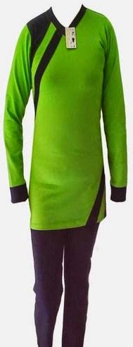 Gambar Baju Senam Muslim 2020 Terbaru 4 - warna HIjau Satu set