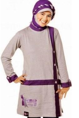 Gambar Baju Senam Muslim 2020 Terbaru 5 - Tatanan Hijam yang Oke