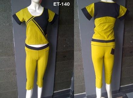 Gambar Model Pakaian Senam Terbaru dan Oke 1 - Wanita Kuning