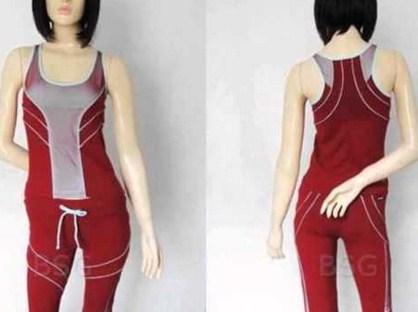 Gambar Model Pakaian Senam Terbaru dan Oke 2 - Tanpa Lengan Warna merah