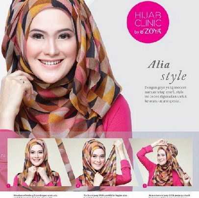 Kumpulan Cara Memakai Hijab Zoya untuk Tampil Stylish! 2 - Alia Style