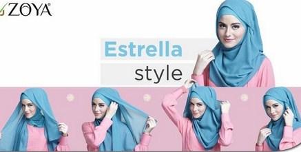 Kumpulan Cara Memakai Hijab Zoya untuk Tampil Stylish! 3 - Estrella Zoya Style