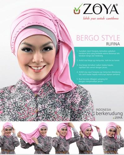 Kumpulan Cara Memakai Hijab Zoya untuk Tampil Stylish! 4 - Bergo Style