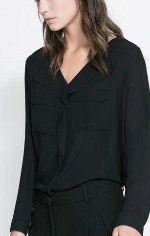 Model Baju Zara Original Terbaru untuk Tampil Oke 1 - Zara V Neck Blouse