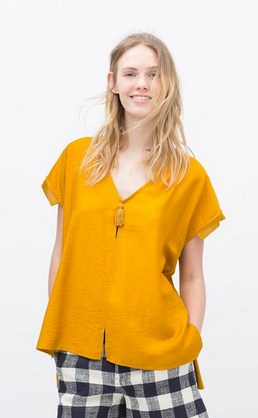Model Baju Zara Original Terbaru untuk Tampil Oke 3 - Zara Kimono Sleeve Blouse