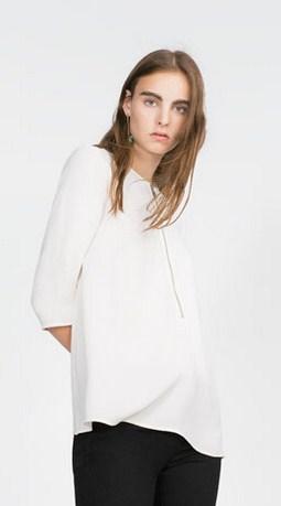 Model Baju Zara Original Terbaru untuk Tampil Oke 4 - Zara Two Pieces Blouse