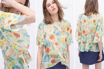 Model Baju Zara Original Terbaru untuk Tampil Oke 5 - Zara Floral Loose Fitting Blouse