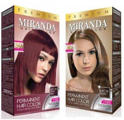 Harga Pewarna Cat Rambut Lengkap Merek Miranda yang Bagus 4 - Semir rambut Miranda