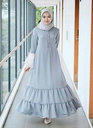 Model Baju Muslim Terbaik Lengan Payung yang Bakal Booming Tahun 2020 1441 H - 1