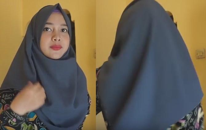 Model jilbab menutup dada dan punggung - 5 dan 6