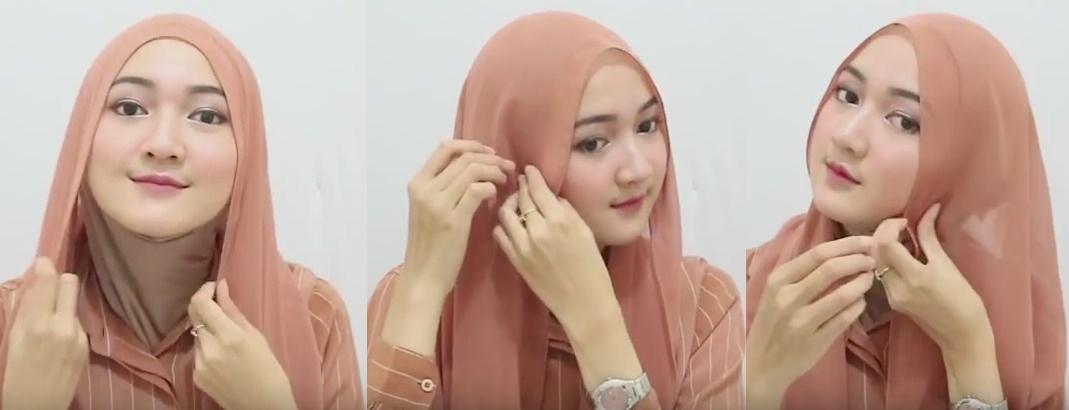 Model jilbab pasmina simpel dan cepat - 1 2 dan 3