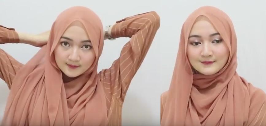 Model jilbab pasmina simpel dan cepat - 4 dan 5