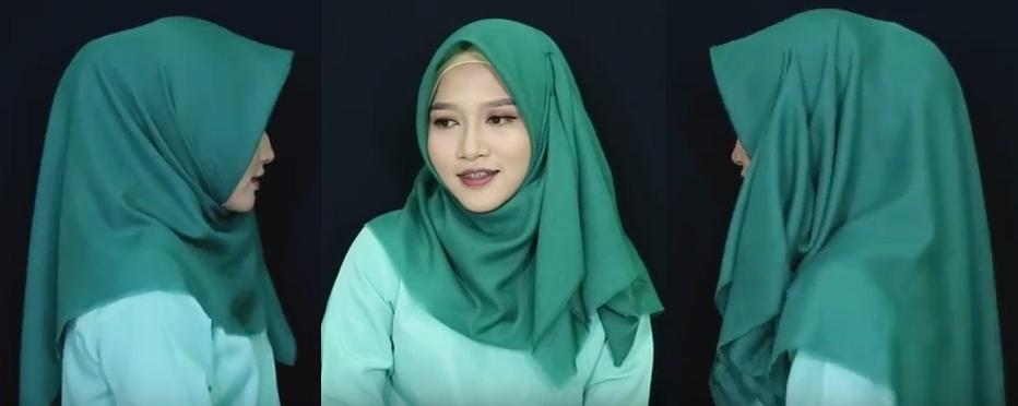 Model jilbab tutorial buat pemula untuk sehari-hari - 5 6 dan 7