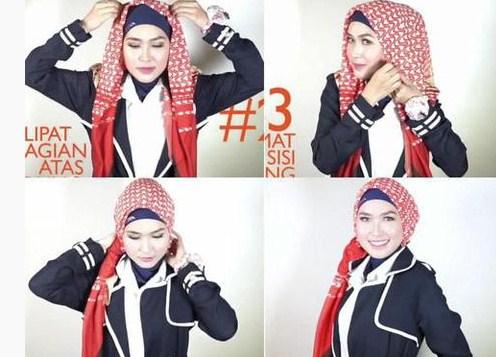 Tutorial Jilbab Sehari-hari hingga pesta 6 - Model Jilbab untuk Travelling