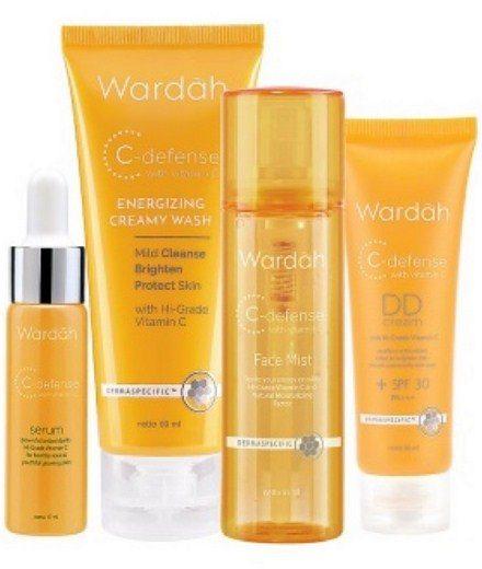 Harga CC DD Cream Pemutih Wajah Wardah Siang dan Malam 2018 1 - Rangkaian Produk C Defense Series Wardah