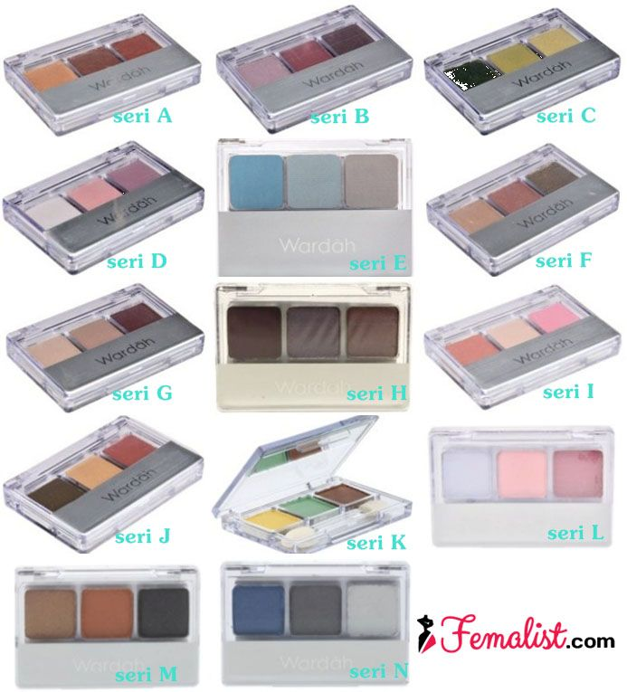 Harga Eyeshadow Wardah 1 - Pilihan Warna seri A sampai N
