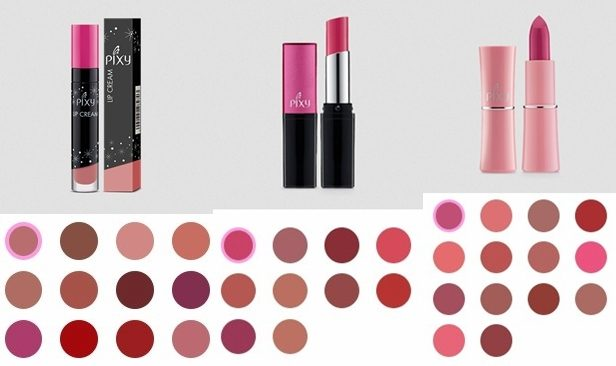 Harga Lipstik Matte waterproof 2 - Pixy Lip Cream + Pixy Matte in Love + Pixy Silky Fit