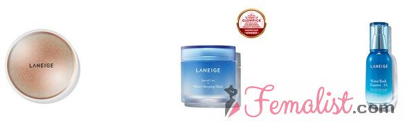Produk Laneige Indonesia Terlaris 2 - BB Cushion, water sleeping mask, water bank essence ex