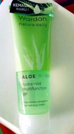 Review Primer Wardah Terbaru 2 - Wardah Aloe Hydramild Multifunction Gel for nature Daily