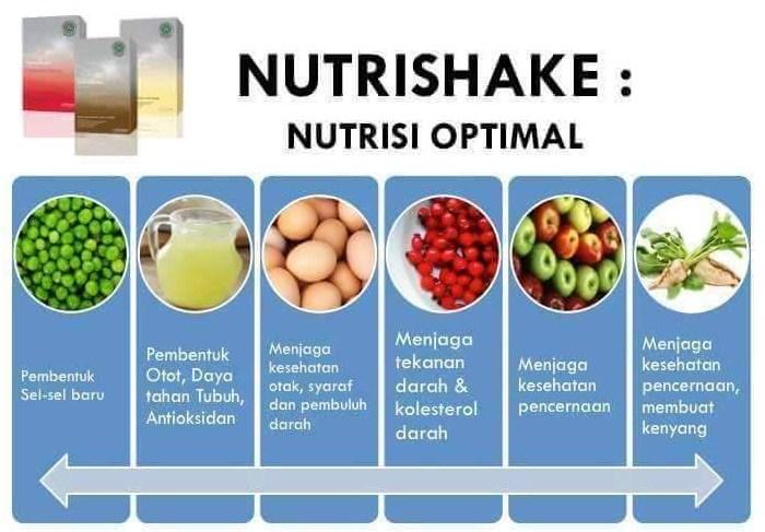 3. Kandungan dalam Nutrishake - Nutrishake menurunkan berat badan, menambah, dan menstabilkan